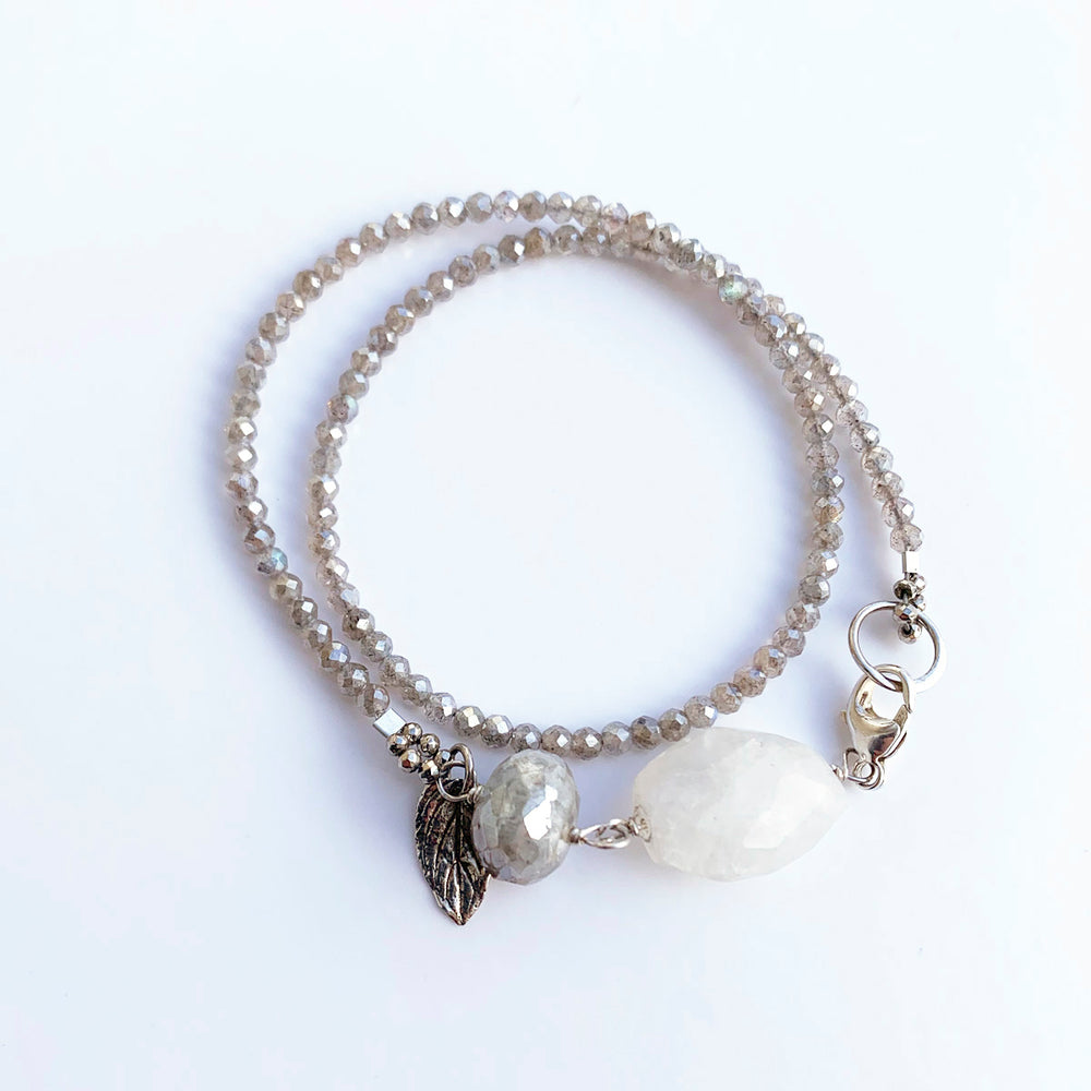 Load image into Gallery viewer, Silverite Wisteria Wrap Bracelet