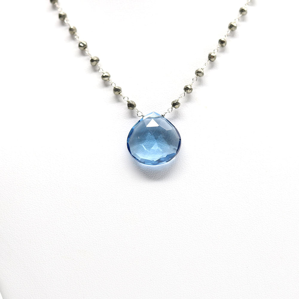 Large Waterfall Blue Quartz Necklace