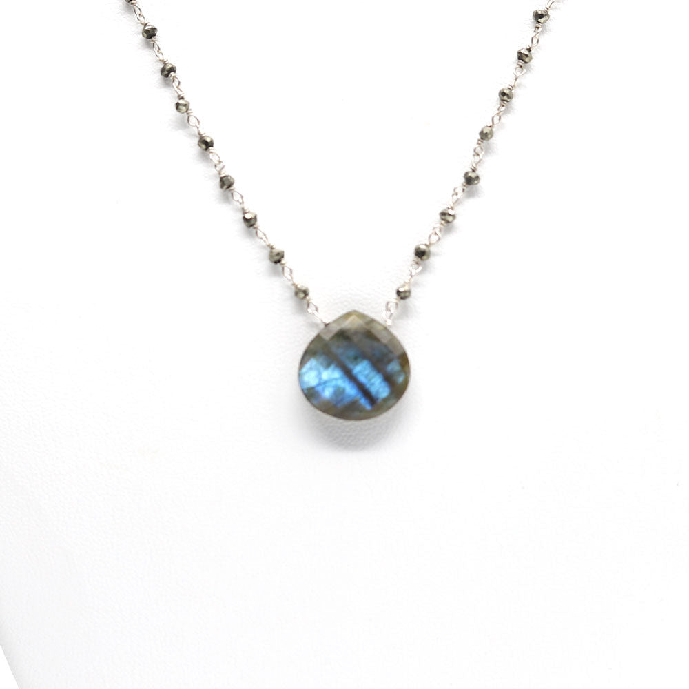 Load image into Gallery viewer, XL Labradorite Waterfall Necklace