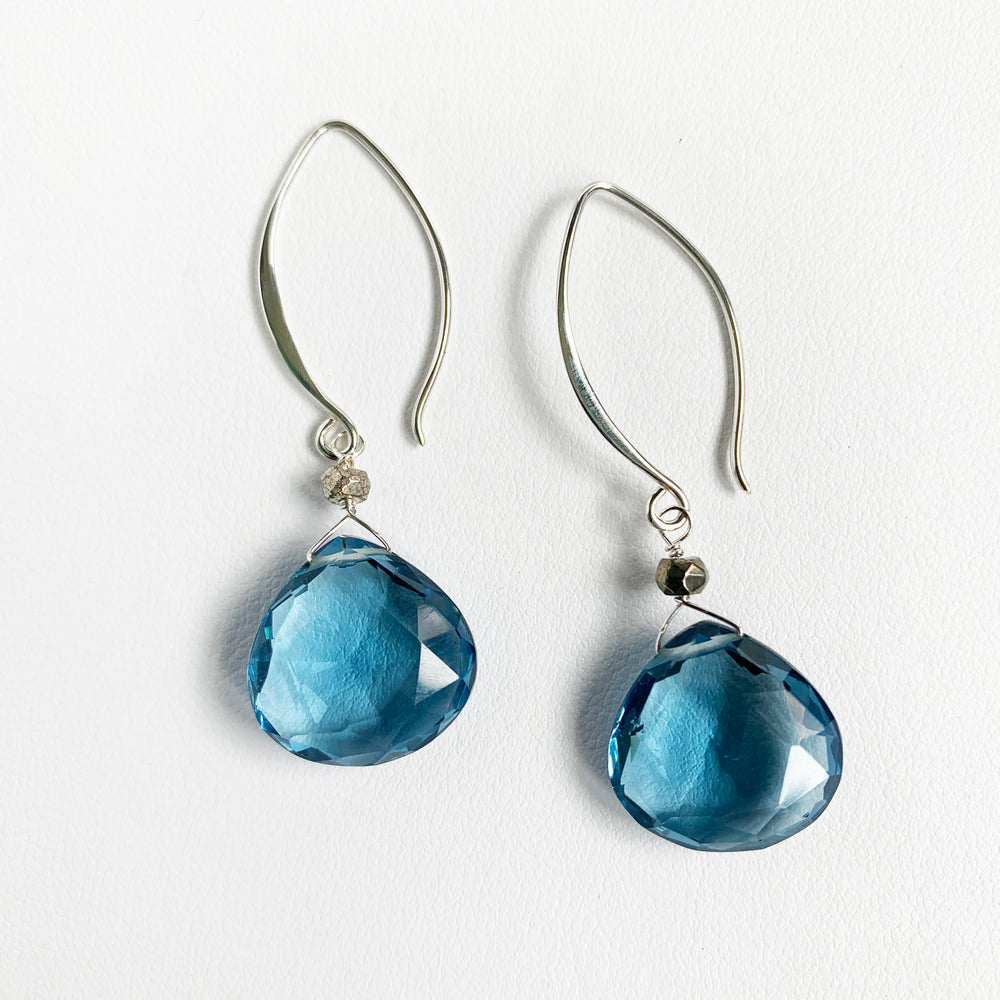 Load image into Gallery viewer, Blue Quartz XL Droplet Earrings