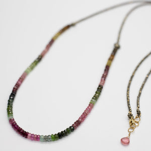Load image into Gallery viewer, Tourmaline Zen Necklace