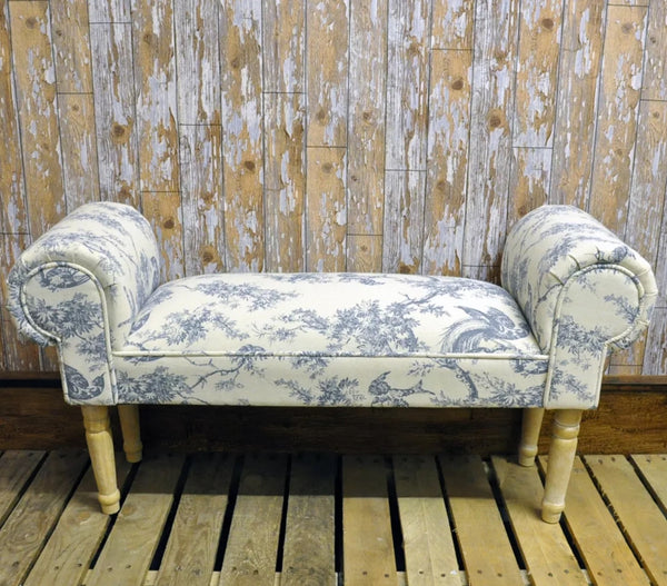 Hand-Made Wedgewood blue Window seat/settle