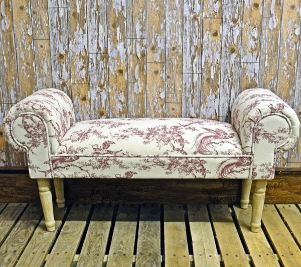 Hand-Made Potteries Red window seat/settle