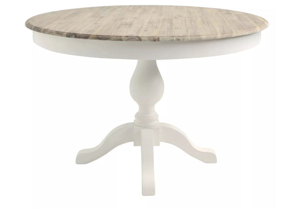 French country style round pedestal table