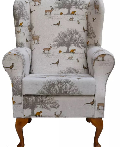 Fireside chair 'English countryside' hand-made
