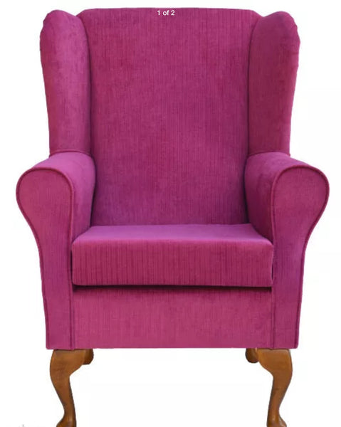 Pink topaz wing backed fireside/bedroom chair