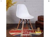 Gorgeous retro/contempary Eames style  white dining chairs
