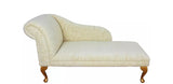 French style gold fleck and cream chaise longue