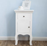 Set of TWO white french style nightstands