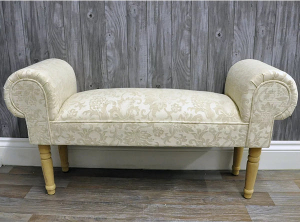 Hand-made French cream settle/window seat