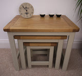 Heritage Range French grey painted oak nest of tables/side tables/end tables