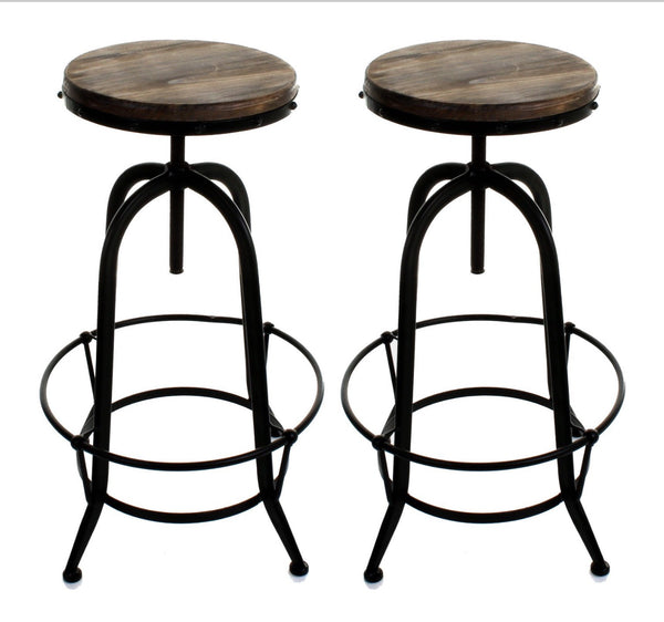 Set of two vintage dining stools