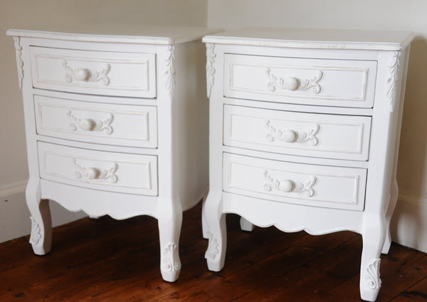French boutique collection set of TWO nightstands