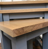 Contemporary solid oak top nest of tables/side tables/end tables