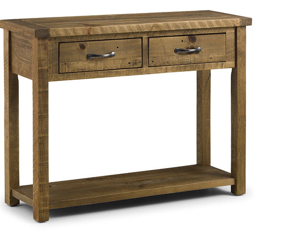 Rustic 'reclaimed' hand-made rustic pine console table/hall table/buffet server