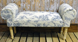 Hand-made 'Botanist' window seat/settle