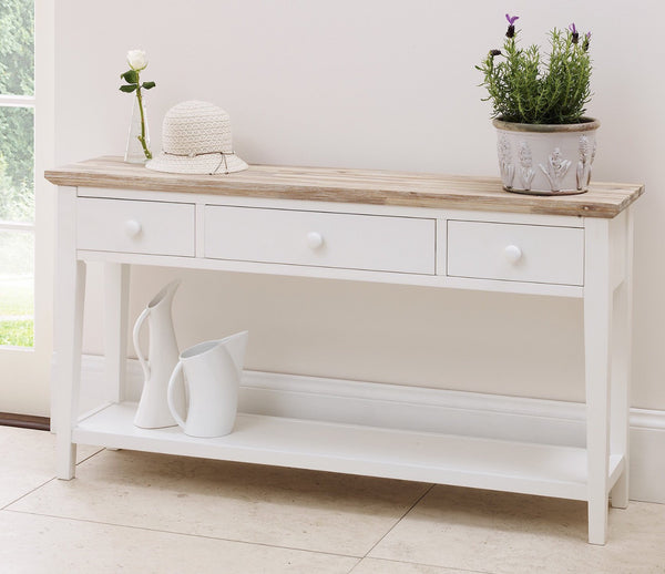 Angel white hall console/buffet server