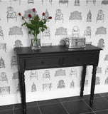 Black Baroque hall console/dressing table