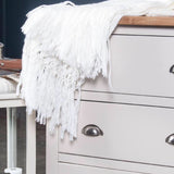 Harbour white 6 drawer chest with cup handles