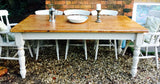 Original vintage farmhouse rustic 6ft country cream table