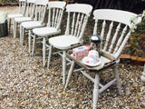 Country cream Windsor style vintage chairs