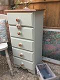 Vintage tallboy in cotton sage
