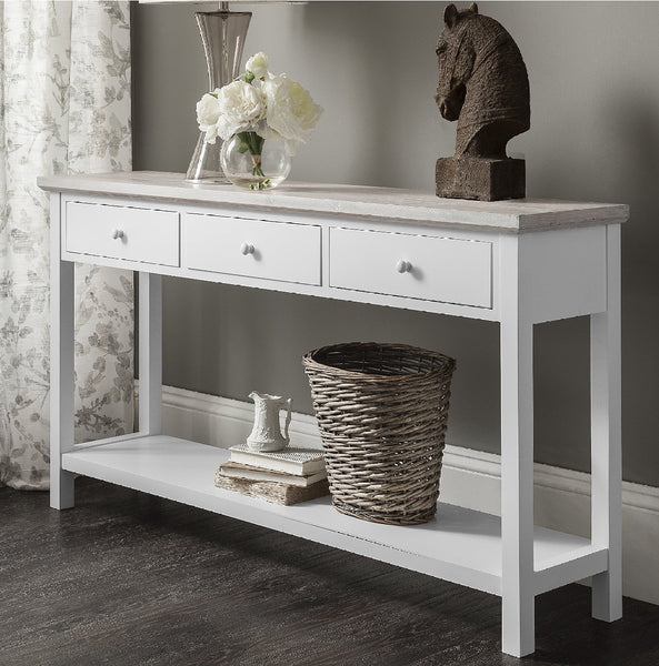 Console in 'white cotton'