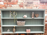 Duck egg 'reclaimed' duck egg 'barn-find' Country dresser top shelving