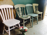 British Bake Off vintage 'mismatched' Chairs