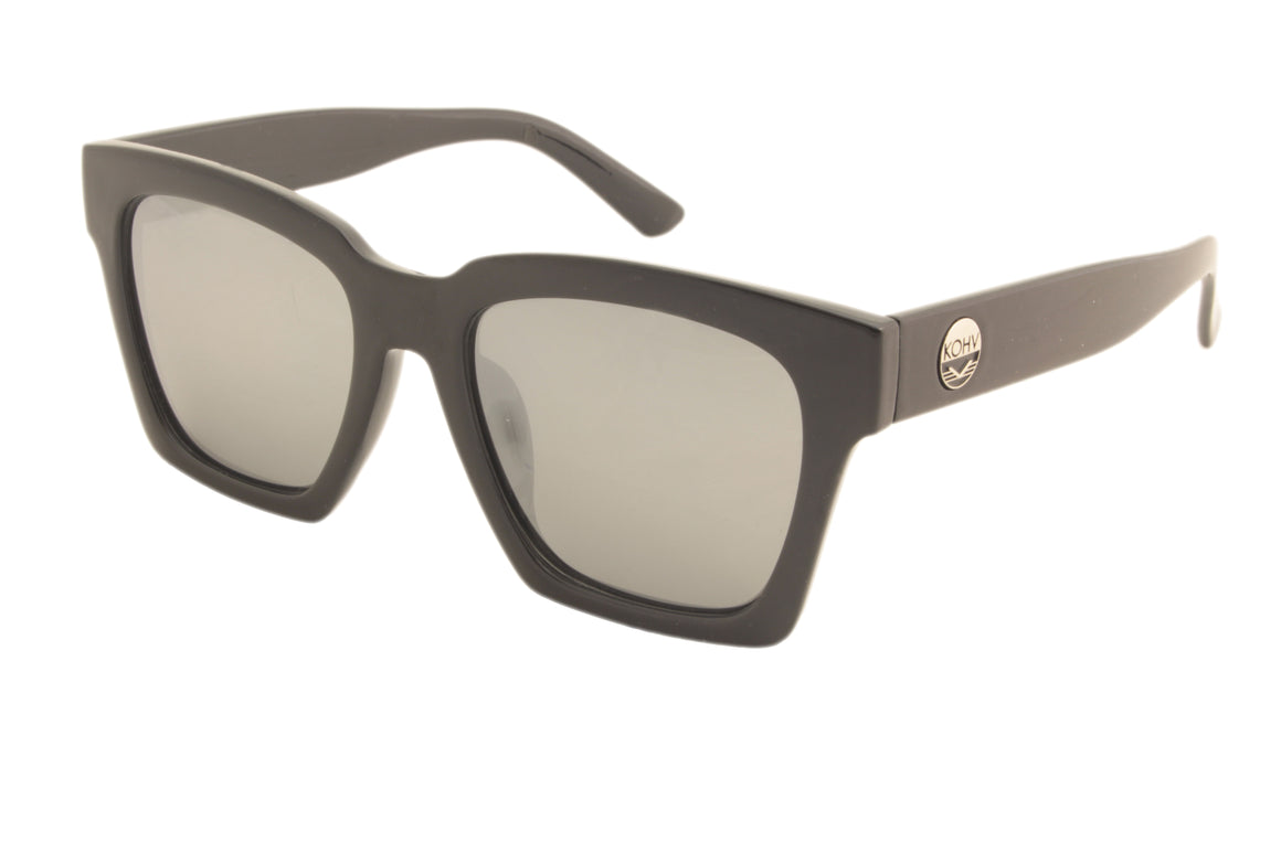 WINGATE  -  gloss black / polarized silver mirror