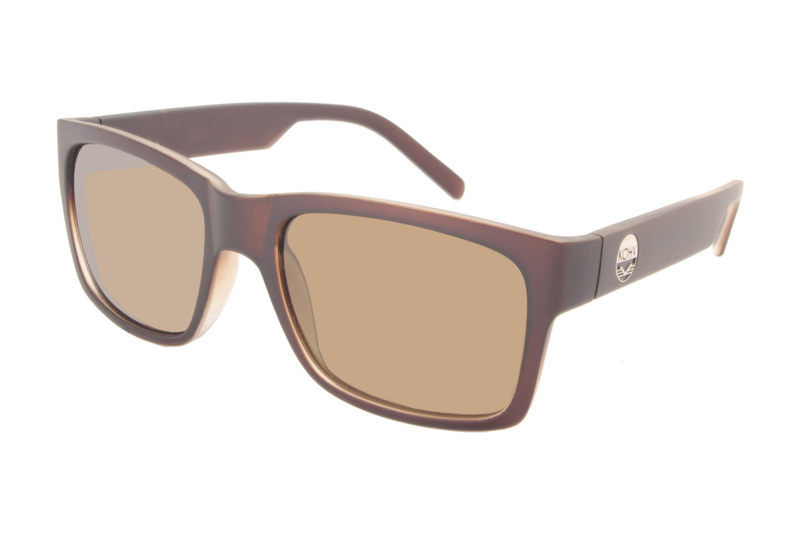 COTTON  -  matte brown / polarized brown