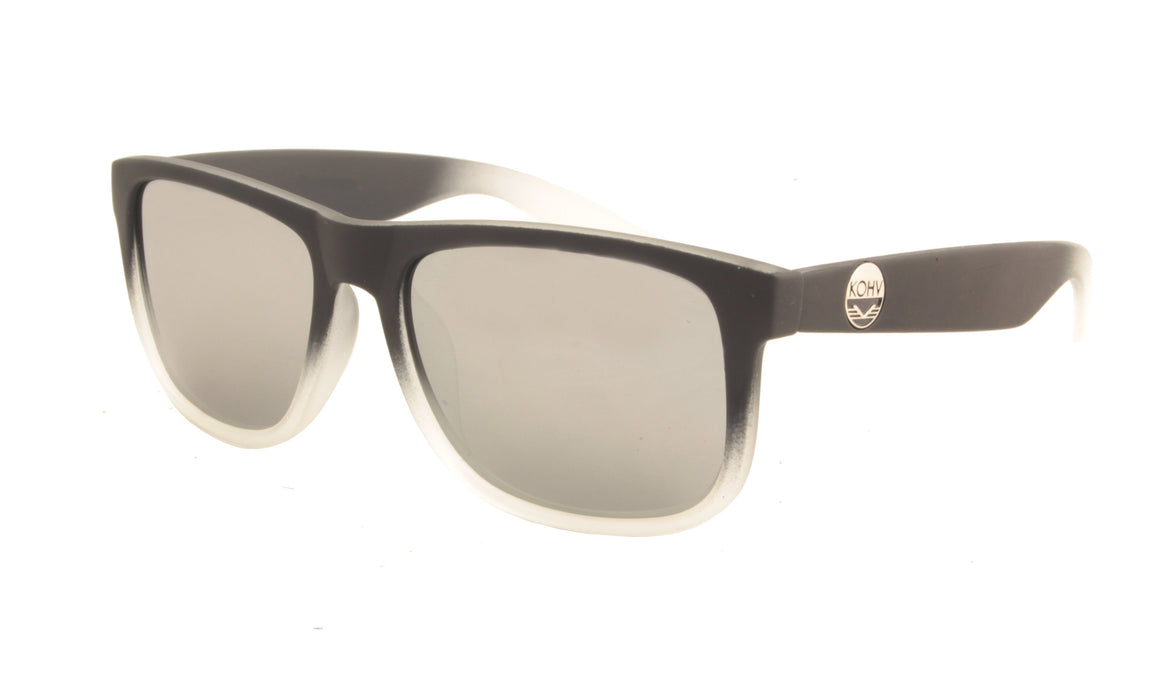 MEACH  -  matte black fade / polarized silver mirror