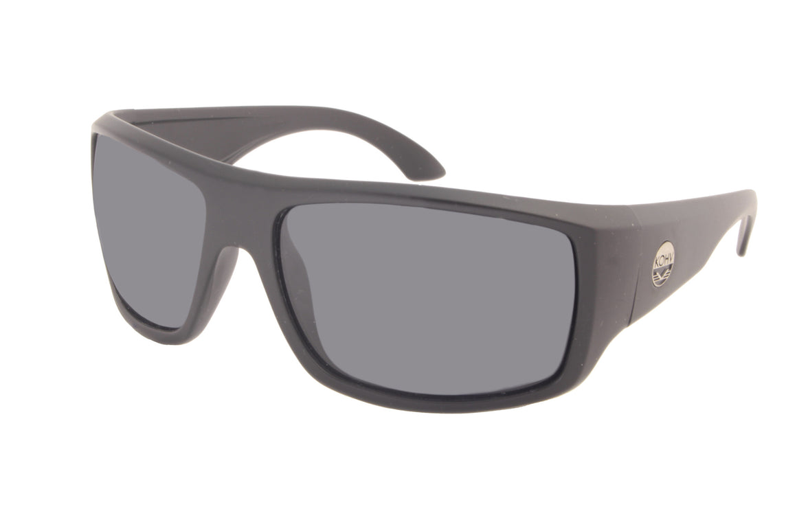 RATTLESNAKE  -  matte black / polarized smoke