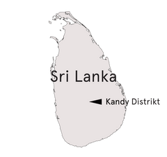 Umriss Sri Lanka Kandy Distrikt