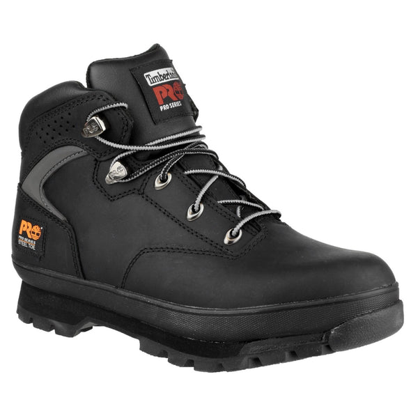 Black Euro Hiker Lace Up Safety Boot