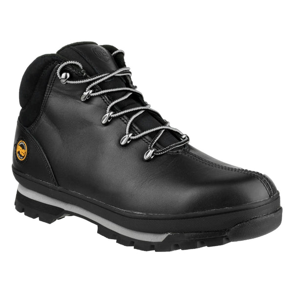 Black Splitrock Lace Up Safety Boot