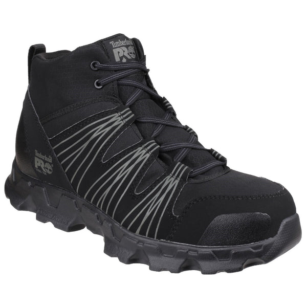 Black Powertrain Mid Black Lace up Safety Boot