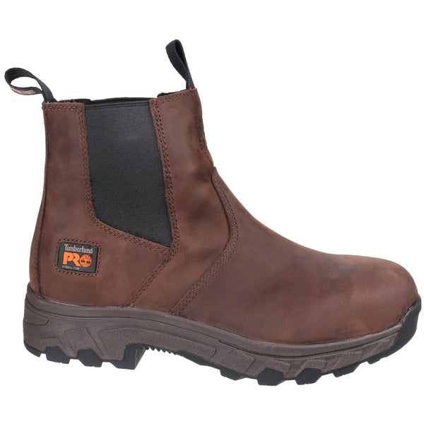 Brown Workstead Water Resistant Pull on Dealer Safety Boot