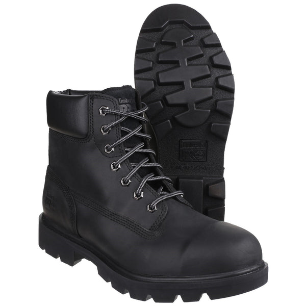 Black Sawhorse Lace Up Safety Boot