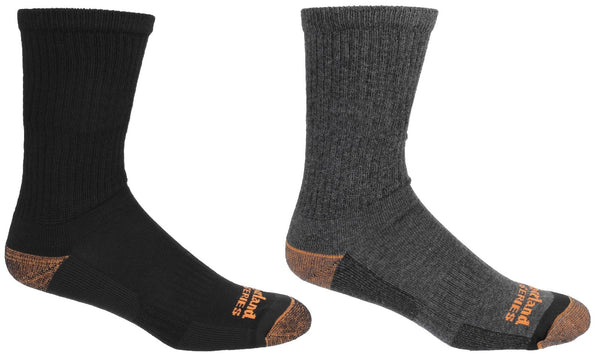 Black Crew Socks 2 Pk