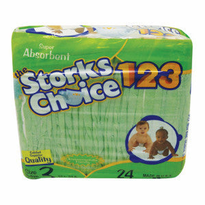 Disposable Diapers (Medium, 24 pk) - 8/case