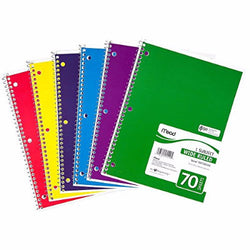 Spiral Notebook (70 Sheets) - 48/case