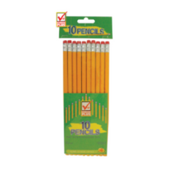 Pencils (Standard No. 2, 10 pk) - 48/case
