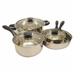 Cookware Set (7 pc Stainless Steel) - 2/case