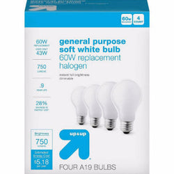 Light Bulbs (60W, 4 pk) - 10/case