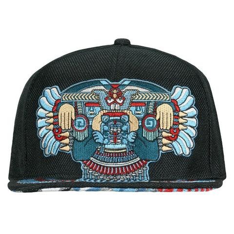 Mayan Smile Black Fitted Hat