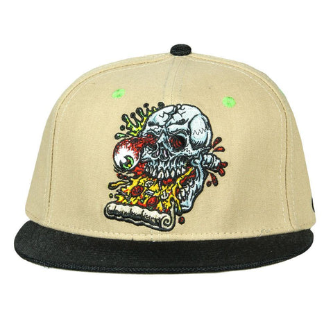 Jimbo Phillips Pizza Skull Tan Fitted