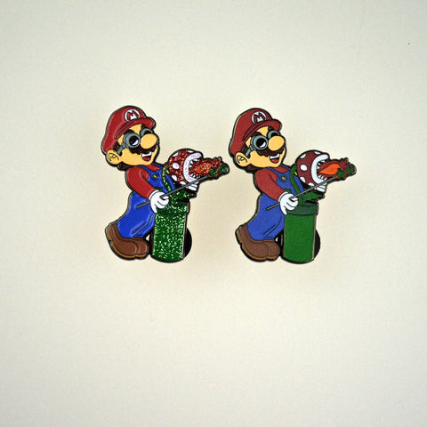 Glassblowing Mario Pin