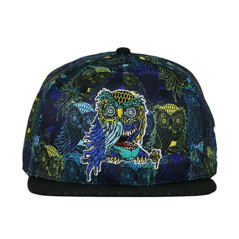 Aaron Brooks Oil Owl Allover Fitted Hat