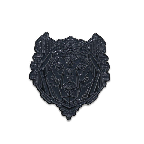Kris D Bear Charcoal Pin